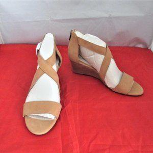 Lucky Brand Women's Jenley Leather Wedge Sandal